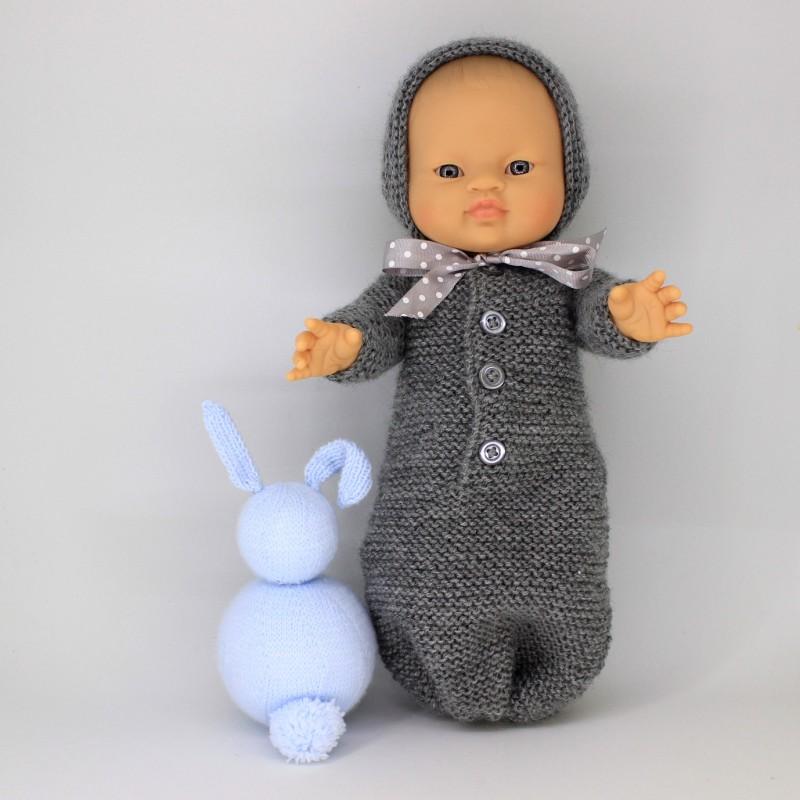 Patrón saquito con mangas Gordi de Paola Reina y Nenuco 32 cm blando y duro