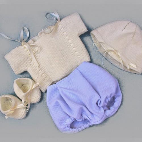 1. Jersey, pepele tela, gorrito y zapatos Nenuco tradicional
