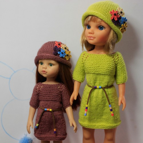Conjunto jersey manga al codo y gorro de lana Paola Reina 32 cm