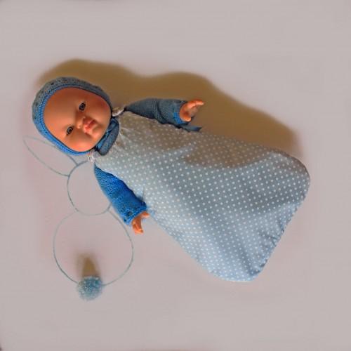 Saco de tela sin mangas SOLO SACO para Gordis de Paola Reina 34 cm
