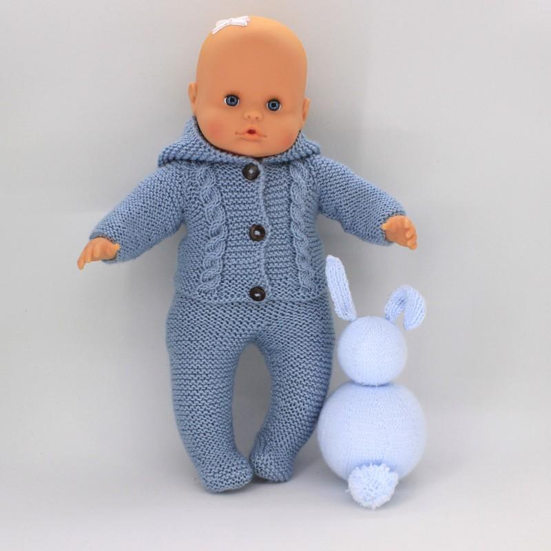 Patitas y Jersey con capucha para Nenuco 32 cm cuerpo de trapo
