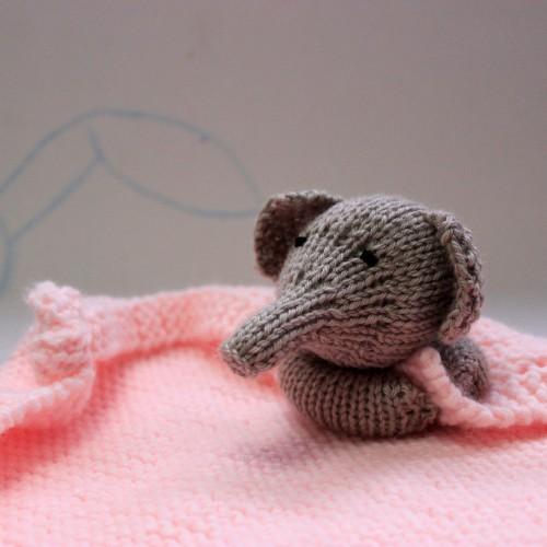 Patrón Doudou o mantita de apego Elefante