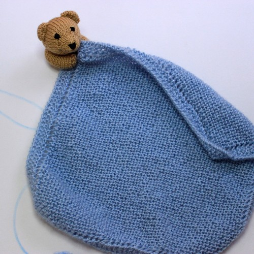 Patrón Doudou o mantita de apego oso