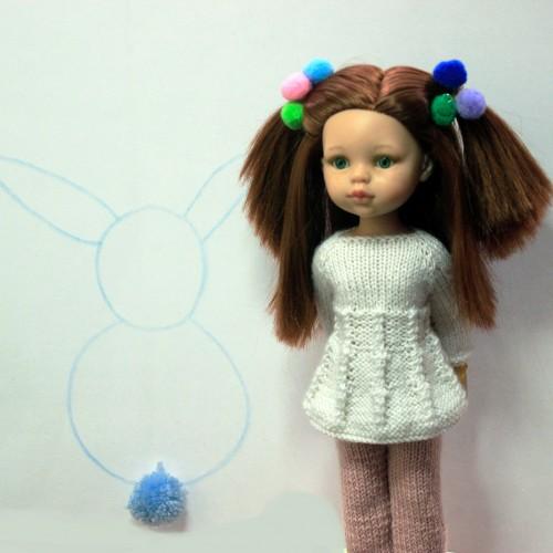 Conjunto Jersey y pantalón largo de lana Paola Reina 32 cm