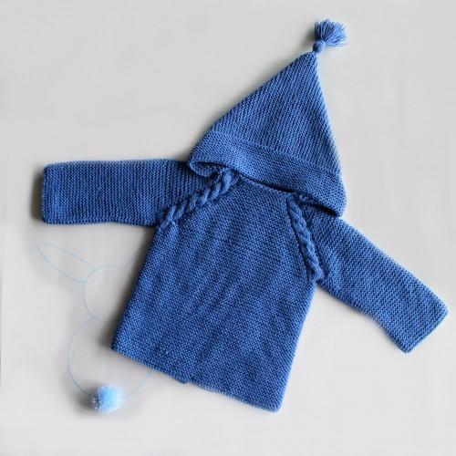 Patrón chaquetón con cremallera bebé 3-6 meses