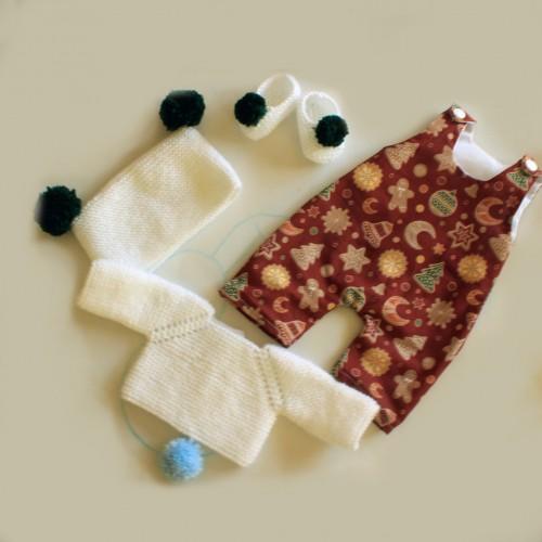 Patrón navideño con pantalón de peto Nenuco Tradicional
