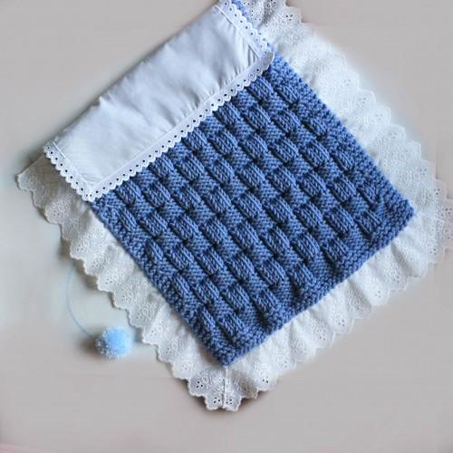 Patrón colcha de punto/tela para muñeco/bebé
