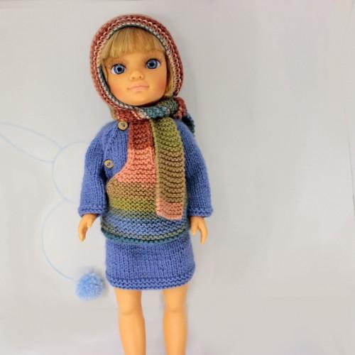Patrón jersey con capucha y falda Nancy