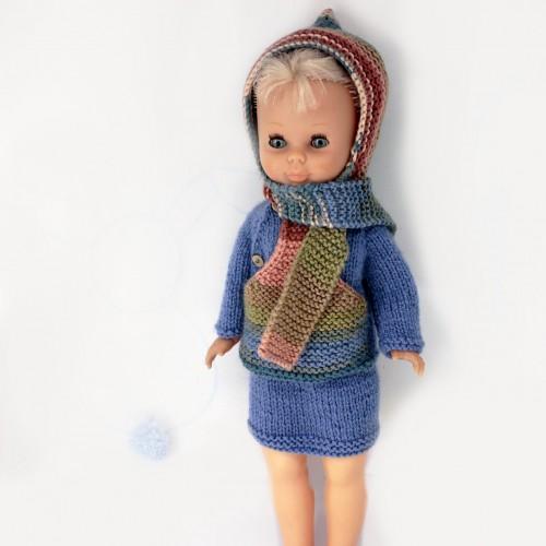 Conjunto jersey con capucha y falda Nancy