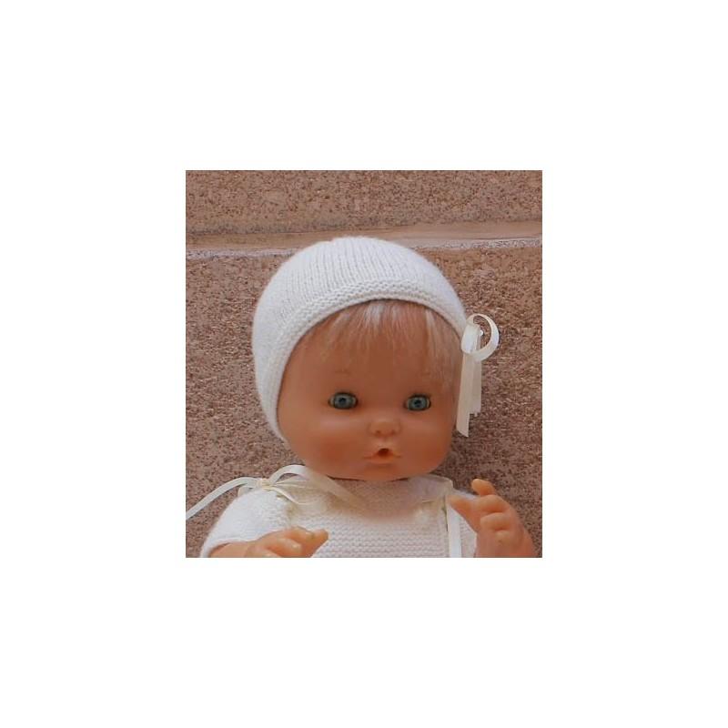 patrón gorrito para Nenuco tradicional del regalo
