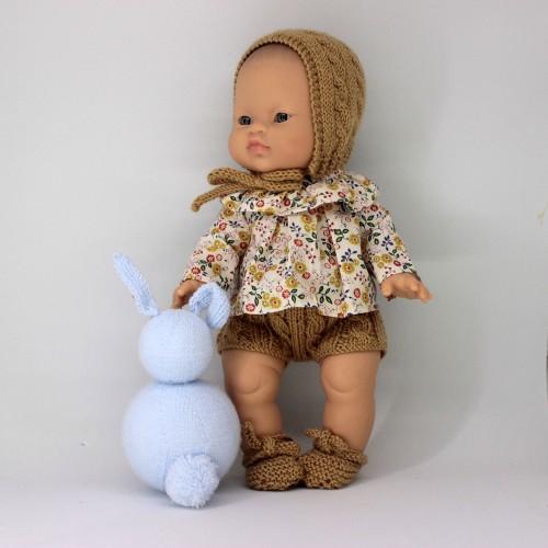 Patrón camisa de tela , capota, pelele y zapatos Gordi de Paola Reina 34 cm Antonio Juan 33 cm Nenuco duro 32-*35 cm