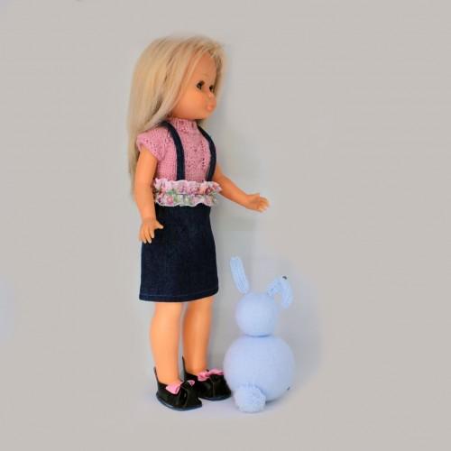 Patrón conjunto falda vaqueta volante Nancy