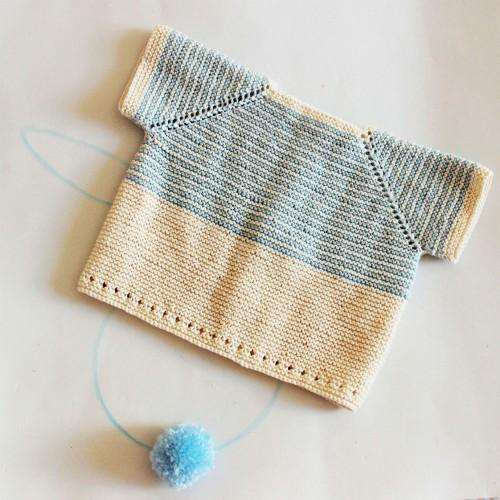 Patrón jersey bebé 1-3 meses