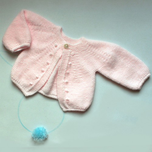 Patrón rebeca rosa bodoques 1-3 meses