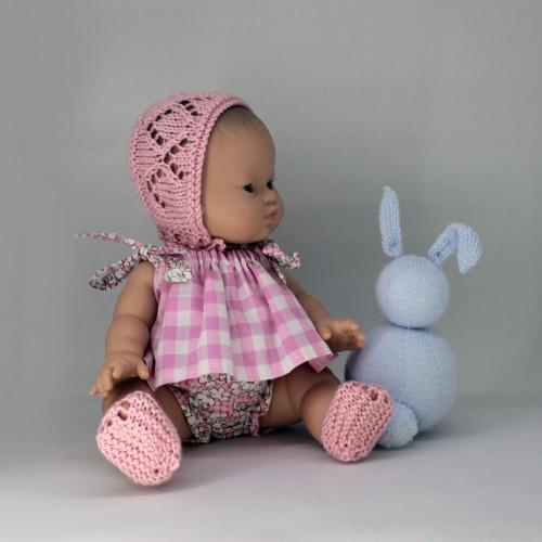 Patrón conjunto verano sin mangas para muñecos de 32-34 cm