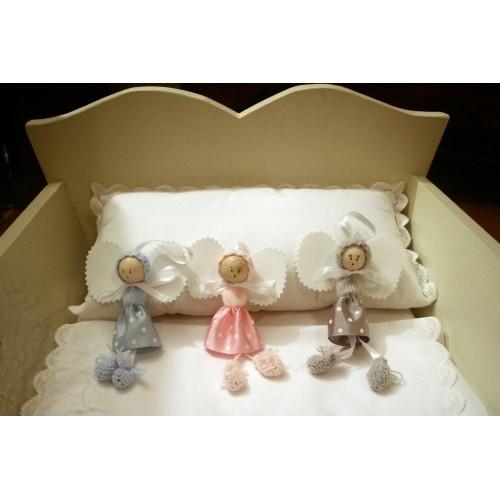 angelito clasico de lana rosa
