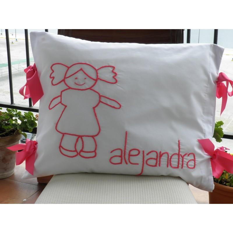 Cojín de Alejandra la muñeca