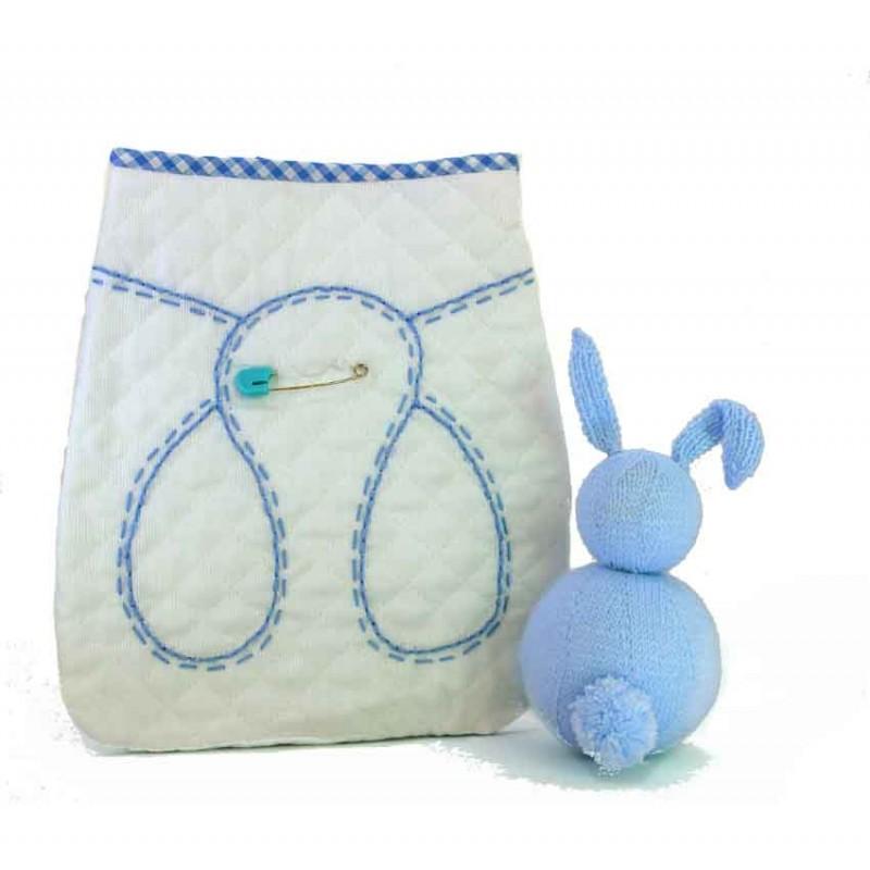Bolsa Portapañales clásica azul