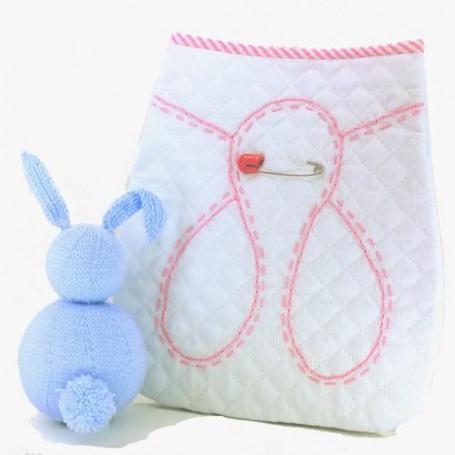 Bolsa Portapañales clásica rosa