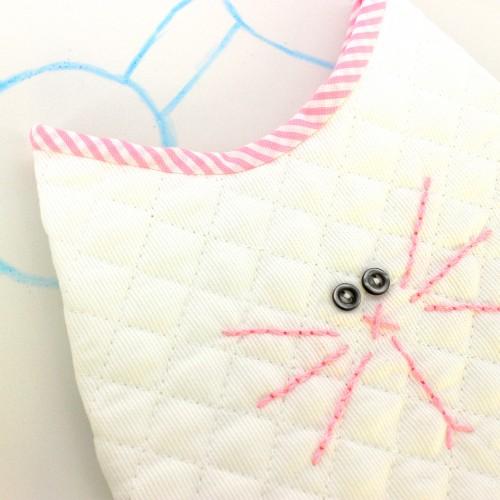 Bolsa Portapañales gato rosa