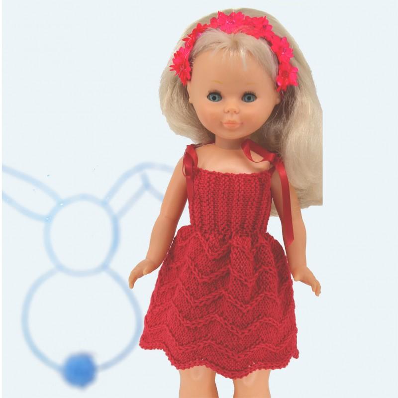 Patrón para muñeca Nancy vestido tirantes para realizar en punto dos ...
