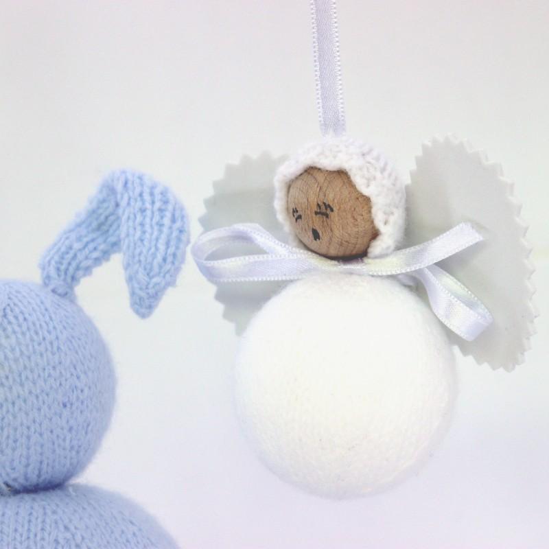 angelito clasico de lana blanco