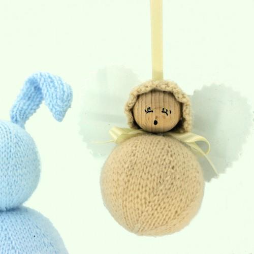 Angelito clásico de lana camel