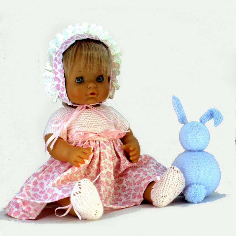 Conjunto vestido lana y tela Nenuco