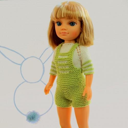 Patrón pantalón corto peto y jersey Nancy