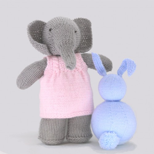 Patrón elefante con vestido