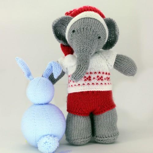 Patrón SOLO ROPA navidad para elefante y oso
