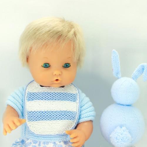 Patrón babero muñeco medio-grande