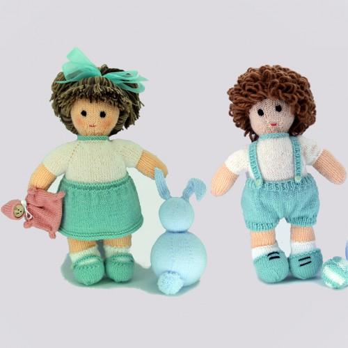 Pack de 2 patrones para realizar dos muñecos de punto: Maria y Nacho