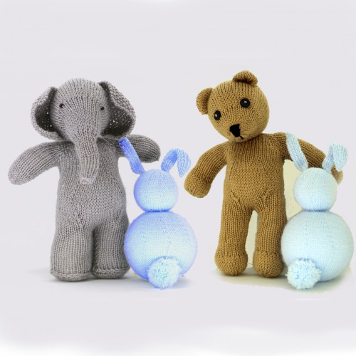 Pack para realizar un elefante de lana y un oso