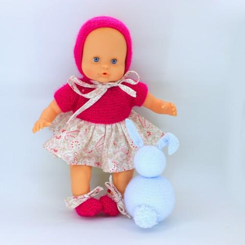 Patrón vestido lana y tela Nenuco 32 cm/gordi Paola Reina 34 cm