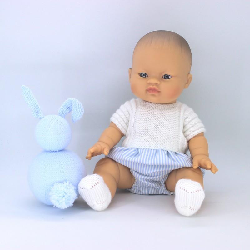 Patrón pelele lana y tela Nenuco 32 cm