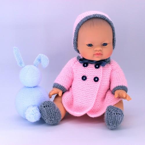 Abrigo, capota y botitas para Mi primer Nenuco 32
